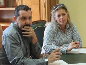 Jorge Vega, Diputado de IU-Ganemos se reúne con la Sección Sindical de UGT. 2