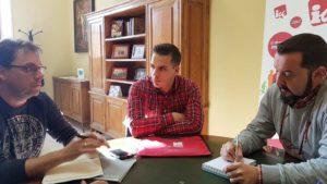 Trabajadores Gesmat reunión Jorge