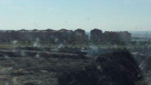 El Quiñon Incendio neumáticos
