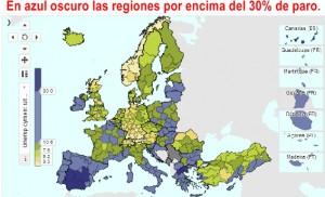 paro europa regiones