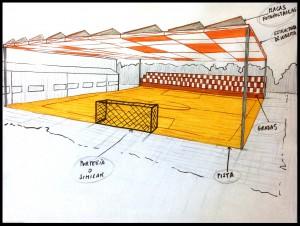 pista deportiva poligono pabellon DIBUJO